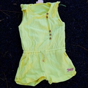 Juicy Couture Toddler Girls Yellow romper Sz 3